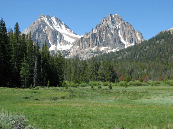 Castle, left, and Merriam peaks in the White Cloud Mountains in Idaho are part of the proposed 'White Cloud Wilderness Area.'
