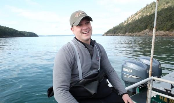 <p>Josh Bouma, a shellfish biologist with the Puget Sound Restoration Fund, leads a team that has raised nearly 7,000 juvenile abalone in a hatchery.</p>