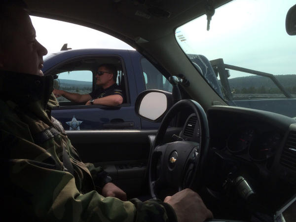 <p>Oregon State Fish and Wildlife troopers James Hayes, left, and Darin Bean patrol several thousand square miles in central Oregon, where mule deer are in decline.</p>