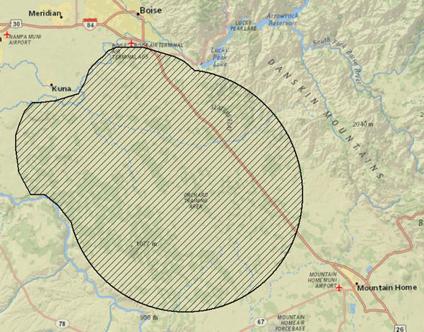 Idaho wildlife officials have mapped out an area where plague may be present in wildlife.