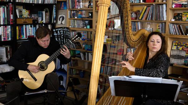 Tiny Desk Concert with Jason Vieaux and Yolanda Kondonassis.