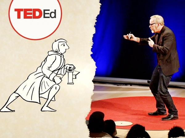 Adam Savage talks on the TED stage about where curiosity has led him.