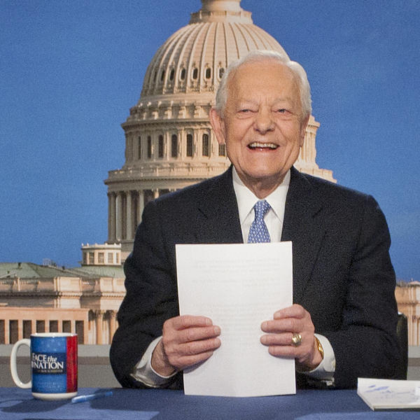 Bob Schieffer, shown here in 2013 on the set of <em>Face the Nation</em>, a show he hosted for 24 years.