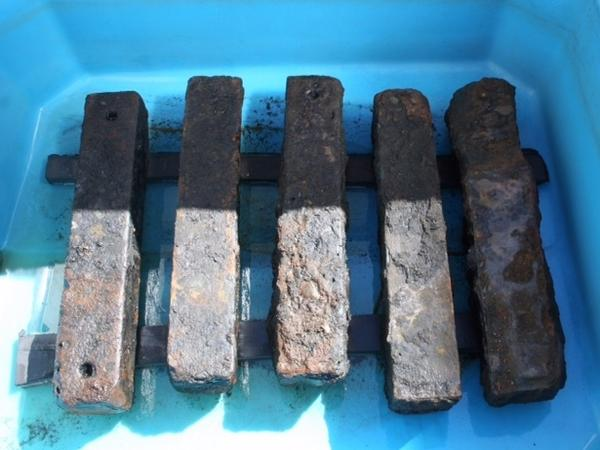 Iron ballast recovered from the São José slave ship wreck was used to weigh down the ship and its human cargo.