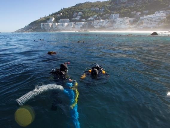 Underwater archaeology researchers explore the site of the São José slave ship wreck near the Cape of Good Hope in South Africa.