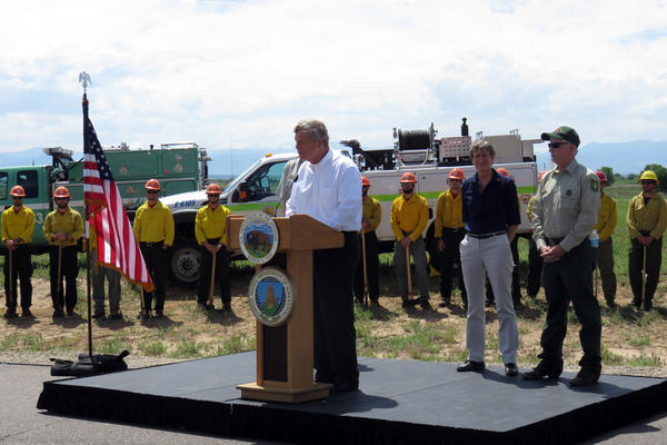 Agriculture Secretary Tom Vilsack and Interior Secretary Sally Jewell came to Rocky Mountain Arsenal in Commerce City to urge a change in how the federal government funds large wildfire suppression.