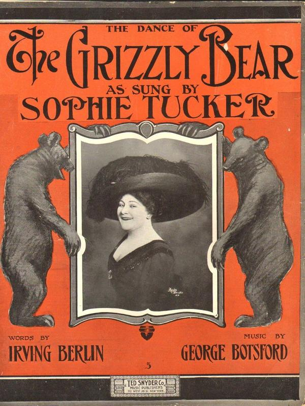 The Dance of the Grizzly Bear sheet music, 1910.