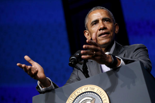 """Nearly 1 in 3 uninsured Americans have already been covered — more than 16 million people -– driving our uninsured rate to its lowest level ever,"" President Obama told a cheering crowd at the Catholic Health Association's annual conference Tuesday."