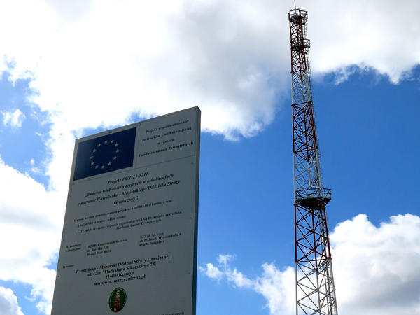 Unmanned observation towers, funded by the European Union, have sprouted recently along Poland's border with Russia. This one is located outside the sleepy Polish border village of Parkoszewo.