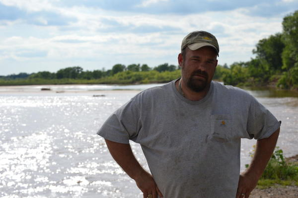 Despite flooding and erosion on the South Canadian River, Toby Bogart hopes to rebuild his farm on the outskirts of Oklahoma City. (Jacob McCleland/KGOU)