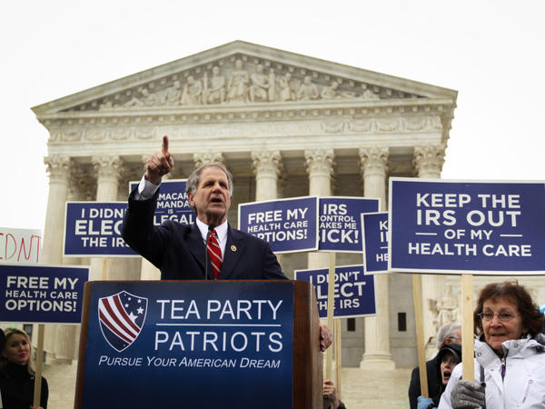 U.S. Rep. Ted Poe, R-Texas, speaks during a Tea Party Patriots rally against the Affordable Care Act in front of the U.S Supreme Court on March 4 in Washington, D.C.