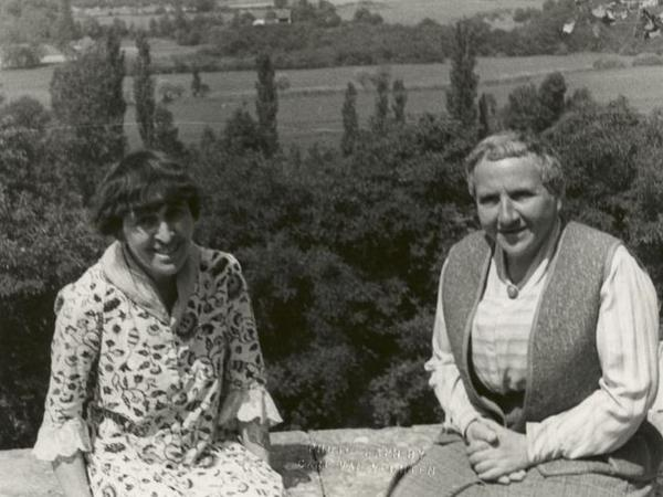 American Expatriates: Alice B. Toklas and Gertrude Stein, seen here in 1934, thought of themselves as married.