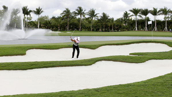 No golf for Univision at Donald Trump's course in Doral, Fla. He banned network execs after Univision took offense at his remarks disparaging Mexican immigrants and dumped his beauty pageant.