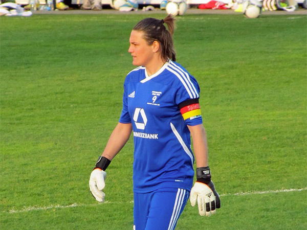 File photo. German goalkeeper Nadine Angerer plays professionally for the Portland Thorns.
