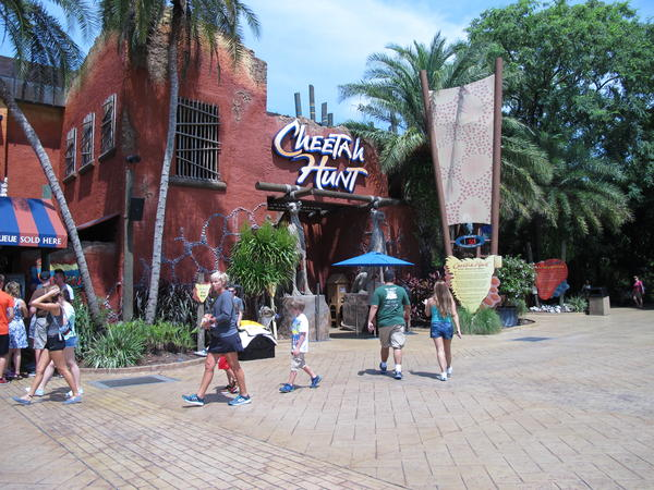 Cheetah Hunt is one of seven thrill coasters at Busch Gardens Tampa.