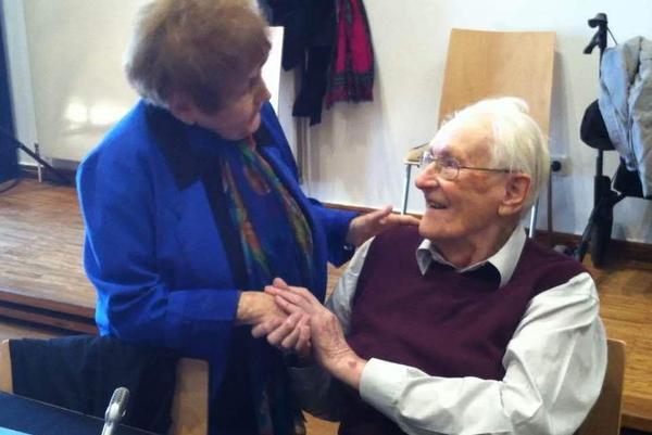 Holocaust survivor Eva Kor meets former Auschwitz guard Oskar Groening, whom she says she forgives for his crimes.