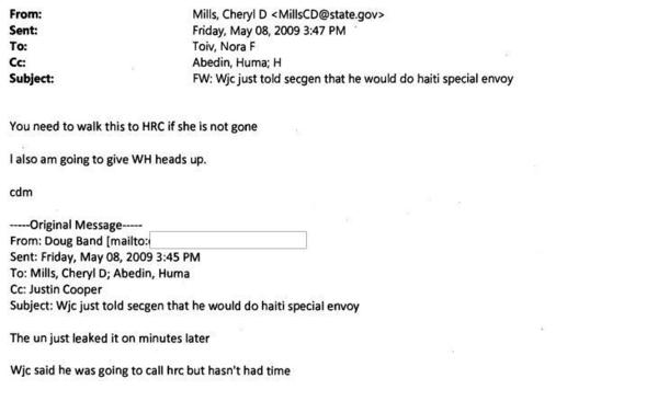 "Cheryl Mills: ""You need to walk this to HRC"""