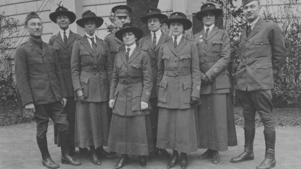 American Library Association volunteers in Paris on Feb. 27, 1919.