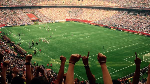 The BC Place stadium — dominated by U.S. fans — rejoiced as the American team took home the Women's World Cup on Sunday night.