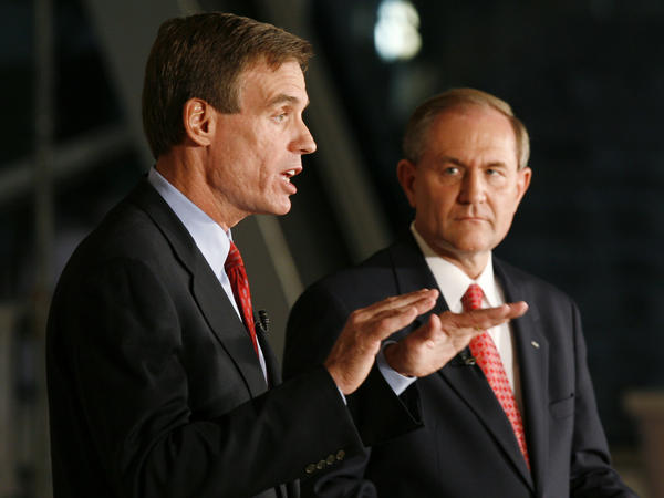 Gilmore ran for Senate in 2008, but lost by more than 30 points to his successor in the governor's office, Democrat Mark Warner.