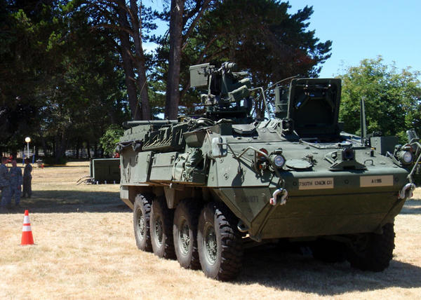 File photo. The Washington National Guard currently has just a half-dozen Stryker vehicles, specially outfitted to assess chemical, nuclear and biological threats.