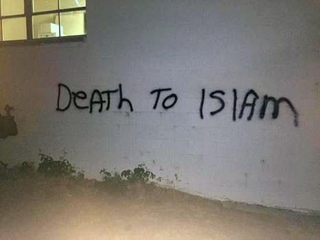 'Death to Islam' was scrawled on the side of the Bosnia and Herzgovina Heritage Association of Spokane.