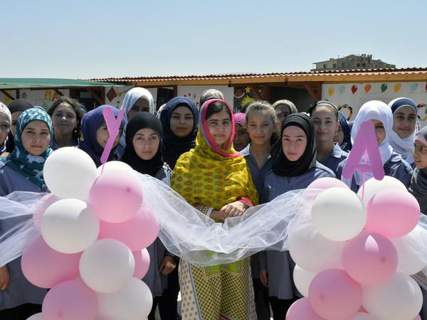 "Malala Yousafzai celebrated her birthday and the opening of a new school with ""brave and inspiring girls of Syria"" in Lebanon on Sunday."