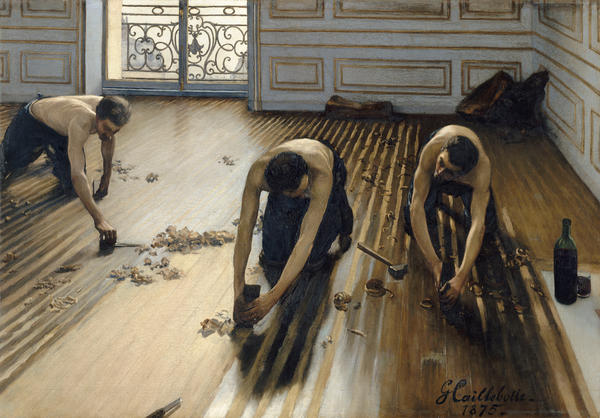 Caillebotte's 1875 painting <em>The Floor Scrapers</em> was rejected by the elite Salon, but it was the work that launched his career.