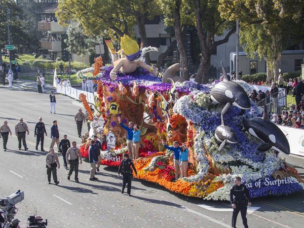 During the 2014 Tournament of Roses Parade, SeaWorld's float was accompanied by police in Pasadena, Calif. PETA supporters were arrested for protesting the float that day, and PETA claims that a SeaWorld employee posing as a PETA volunteer tipped police off to the protest.