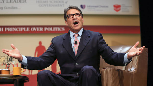 Former Texas Gov. Rick Perry may not make the cut for the first GOP presidential debate next month in Cleveland, Ohio. Perry is an Air Force veteran.