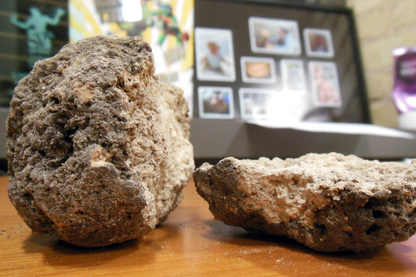 "A ""tar rock"" sits on my desk in Grand Rapids."
