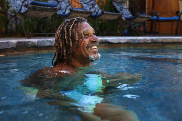 Cooper is known as the Swim Whisperer. He's been teaching swimming full-time since 1995.
