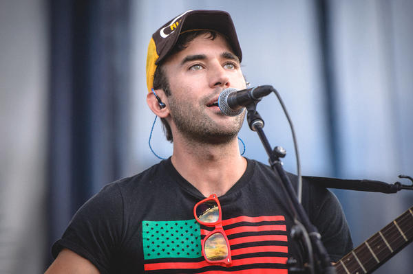 Sufjan Stevens told the audience he was humbled to play the same stage as James Taylor.