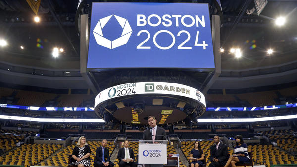 Boston Mayor Martin Walsh speaks at a news conference last month. He and the USOC announced Monday that his city is no longer in the running to host the 2024 Olympics.