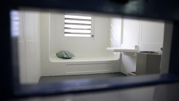 A cell at New York's Rikers Island jail. About 1,000 people die in American jails every year, and about a third of those are suicides.