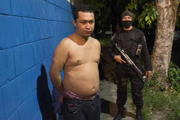 'On 28 of July 2015, Salvadoran the police announces the capture Cesar Vladimir Montolla. A member of the 18th St. gang is accused of engineering and executing the attack of several bus drivers in San Salvador. Photo Encarni Pindado'