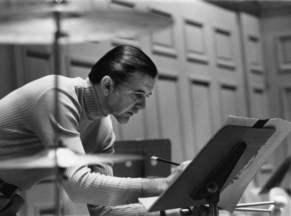 Circa 1974: a photo of Vic Firth, the former principal timpanist of the Boston Symphony Orchestra and a leader among percussion equipment manufacturers.