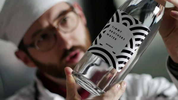 """Filmmaker Paul Riccio's characters the Timmy Brothers """"are introducing handcrafted water to the world with an almost pathological attention to craftsmanship and a thirst for helping people become less thirsty."""""""