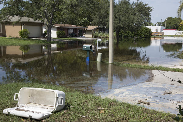 Residents on Ashwood Drive in Port Richey has been flooded for a couple weeks. The water is waist deep in the worst areas.