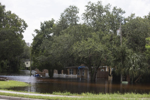 About a mile stretch of road along State Road 54 in New Port Richey was affected by flooding Tuesday morning.