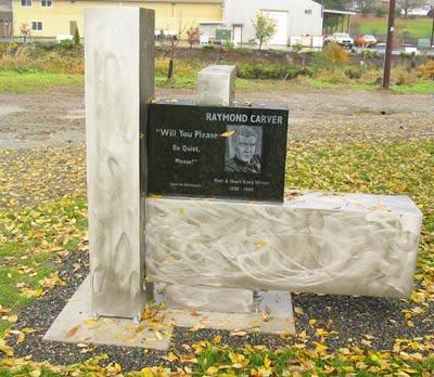 A memorial park and statue dedicated to Carver stands in his birth town of Clatskanie, Oregon. A block away, the building where Raymond Carver was born still stands.