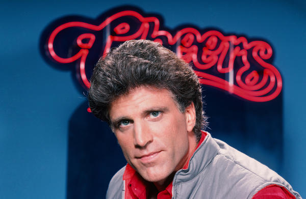 "Danson starred in <em>Cheers</em> as bar owner Sam Malone. ""<em>Cheers</em> was like being shot out of a cannon as far as celebrity, or attention from the public,"" he says."