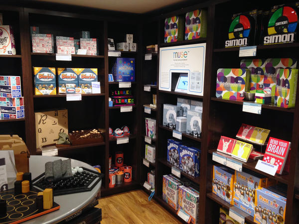 Marbles, a store in San Francisco, Calif., offers lots of options for shoppers interested in brain games.