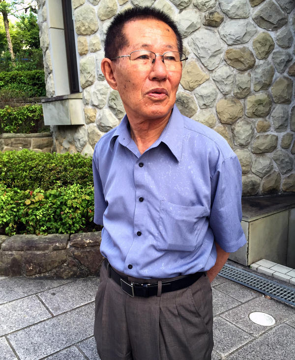 Minori Moriuchi was an 8-year-old student in Nagasaki when the U.S. dropped an atomic bomb on the city. He believes he contracted radiation sickness when going into the city to look for relatives.