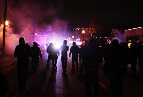 In Ferguson. Nov. 24 2014.