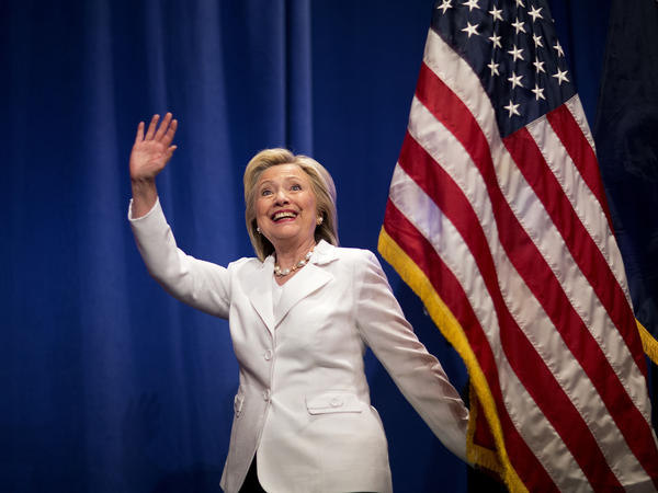 Democratic presidential candidate Hillary Clinton visits Trident Technical College on June 17 during a campaign stop in North Charleston, S.C.
