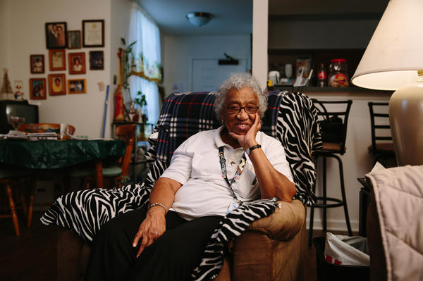 Emelda Paul, 81, loves her new one-bedroom apartment in Faubourg Lafitte. Her unit has spacious closets and wood floors and comes equipped with appliances. When completed, Faubourg Lafitte will have a mix of public housing — about one-third of the total number of units — affordable housing and market-rate units.