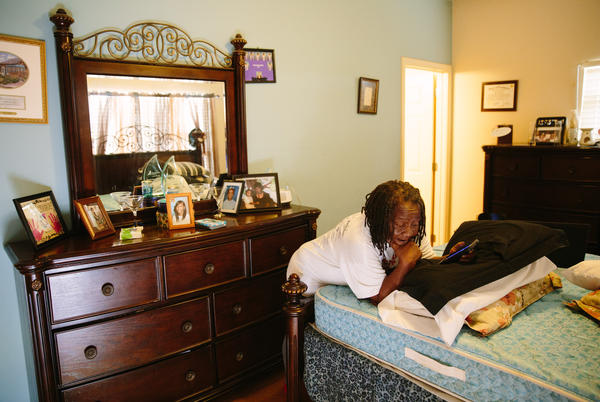 Bobbie Jennings' new home is in the Harmony Oaks housing development in New Orleans. The 69-year-old says she misses the sense of community of the C.J. Peete projects, which Harmony Oaks replaced.