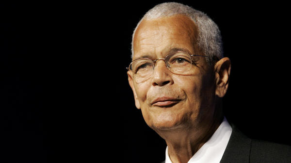 Then NAACP Chairman Julian Bond addresses the civil rights organization's annual convention in Detroit in 2007. Bond, a civil rights activist and longtime board chairman of the NAACP, died Saturday, according to the Southern Poverty Law Center. He was 75.