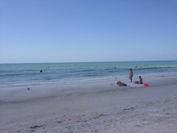 Sunset Beach on Treasure Island in Pinellas County.